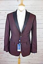 NEW Ryan Seacrest Distinction Slim-Fit Burgundy Brocade Jacket Blazer 42R $295