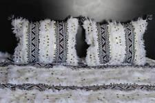 Moroccan Handira +2 pillow set Wedding Blanket 104.5'' X 77'' Handmade