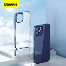 Baseus Plating Phone Case For iPhone 12 Pro Max Transparent Soft TPU