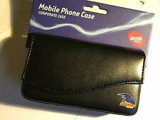 Universal Corporate Horizontal AFL Adelaide Crows Leather Pouch Black AFL-UCADL