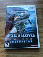Metroid Prime Corruption Nintendo Wii Cib XP3
