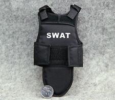 "1:6 Scale 4D Assembling Black Tactical Bullet Proof Vests Mode F 12"" Figure Toys"