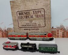 Vintage Marx O Gauge Set No.8622 Monon Diesel Engine & Freight Car Set W/Set Box