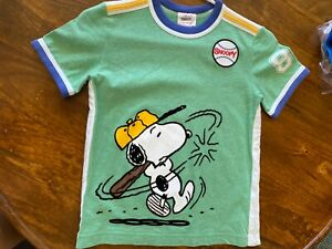 hanna andersson 120 boys green  snoopy T-Shirt