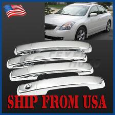 04-08 Maxima 4D Chrome Door Handle Cover W//O Pskh For Nissan 07-13 Altima
