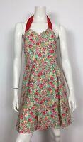 GFD abito vestito cotone floreale 42 leggero usato pieghe vintage mare T1880