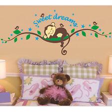 Affe Wandtattoo Wand Sticker Wandaufkleber Wand design Dschungel Kinderzimmer