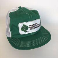 Vintage LAND O LAKES Mesh Snap Back Farmer Trucker Cap Hat Patch K Brand USA C2