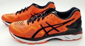 Asics Men's Gel-Kayano 23 Running Shoes Size 7.5, Orange / Black T646N-0990