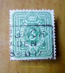 EBS German Empire 1875 3 Pfennig Numeral Ziffer Michel 31 used cv $11.00 2087