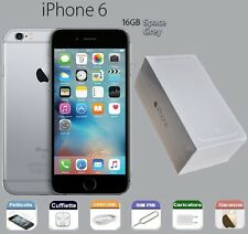 APPLE iPhone 6 16gb GRADO A COME NUOVO BOX RIGENERATO SPACE GREY GRIGIO SIDERALE