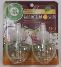 2 Refills Air Wick PARADISE RETREAT Scented oil