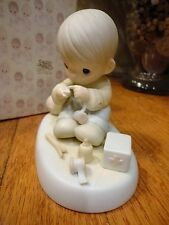 Precious Moments Figurine Love Is the Glue That Mends 1987 104027 Mib