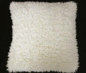 Fn621a Cream White Very Soft Faux Sheep Fur Pillow Case/Cushion Cover*Custom Siz