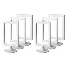 """IKEA TOLSBY x6 SIX Double-Sided White Gloss Plastic Picture Frames 10x15cm/4x6"""""""