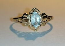 9ct gold Aquamarine and Diamond ring Size O