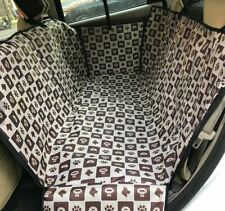 Waterproof Dog Cat Pet Car Rear Back Seat Cover Scratch Resistant with Zipper