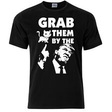 "T-Shirt The Donald Trump ""Grab them by the ..."" Siebdruck Gr.XL"
