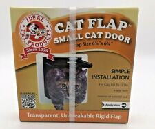 New listing Cat Flap Small Cat door ~ Ideal Pet Products ~ With 4-Way Lock ~ White ~ Nip!
