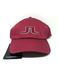 J Lindeberg Golf Hat Burgundy Breck Solid Cap Twill, One Size Fit All Ajustable
