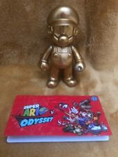 """Super Mario 5"""" Action Figure - Super Mario Odyssey Golden Outfit -NEW & SEALED"""