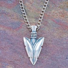 "925 sterling silver ARROWHEAD American Indian Arrow Charm Pendant & 24"" Necklace"