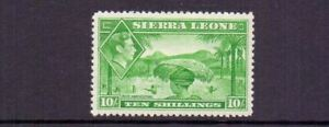 SIERRA LEONE 1938 GVI 10/- LMM CAT £38