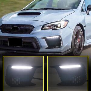 For Subaru WRX / WRX STI 2018-2021 LED Fog Light DRL Daytime Running Light 1 Set