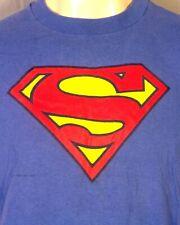 vtg 80s 90s Graphitti soft thin Superman S Shield Logo T-Shirt DC Comics sz M/L