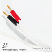 2 x 5m QED Silver Anniversary XT Speaker Cable Terminated Gold 4mm Banana Plugs