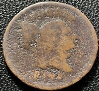 1795 Liberty Cap Half Cent 1/2 Flowing Hair RARE Early Date  #15451