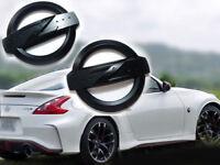 "2x Métal Emblème Logo ""Z"" noir mat Nissan 350z, 370z"