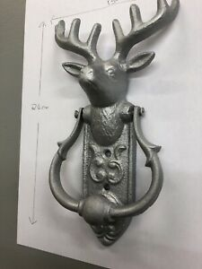 Large Silver Stag Head Vintage Stag Door Knocker,deer Door Knocker,metal Knocker