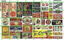 NH030 DAVE'S DECAL 1/2 Set N SCALE GHOST SIGNS TOBACCO CIGARETTES CIGARS MIX SET