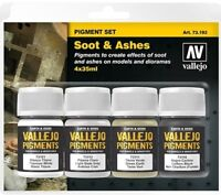 Vallejo Pigment Set - Soot and Ashes - 4 pigments # 73193