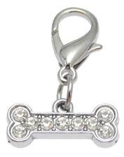 Strassanhänger Knochen bone charm klein #7 Strass Schmuck Anhänger Halsband