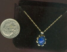 """Natural Lapis Lazuli 14k Solid Gold 18"""" Chain & Pendant ~ 8mm x 6mm ~ NWT #2"""