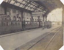 Marseille La Gare France Voyage en Méditerranée Vintage argentique 1911