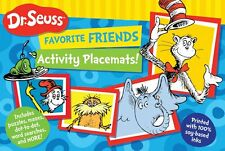 Dr. Seuss Favorite Friends Activity Placemats (pb) puzzles,mazes,dot to dot NEW