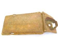 Vintage Used Old Metal Mystery McCormic Deering Hinged Tractor Name Badge Plate