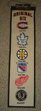 ORIGINAL 6 NHL HERITAGE BANNER Bruins Red Wings Blackhawks Rangers Canadiens