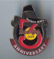 RARE !! HTF !! Hard Rock Cafe Buenos Aires 3rd Anniversary Pin