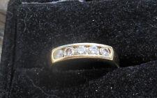 14k Yellow Gold .50 ct 5 stone diamond band - high quality stones-sz 5.75