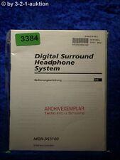 Sony Bedienungsanleitung MDR DS5100 Digital Surround Headphone System (#3384)