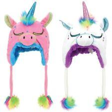 Animal Hat Unicorn Cap JIGLZ Rainbow Sparkly Character Winter Girls Boys