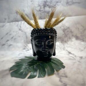 Buddha head flower pot, vase, napkin holder, desk decor, organizer from plastic