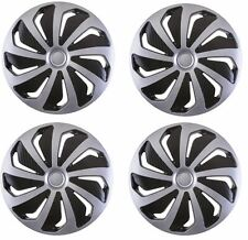 """4x Wheel Trims Hub Caps 16"""" Covers fits Toyota Avensis Aygo Yaris Alloy Look"""