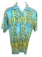 NO BOUNDARIES Men Hawaiian ALOHA shirt M/3XL mythical birds camp luau club wear