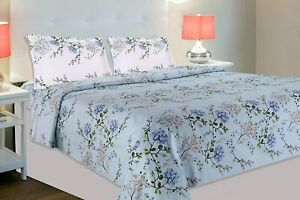 Summer Dream 100% Cotton Double Bedsheet with 2 Pillow