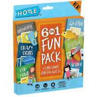 Hoyle Playing Cards Games -6 in 1 FUN PACK (Memory, Go Fish, Old Maid, Slap Jack